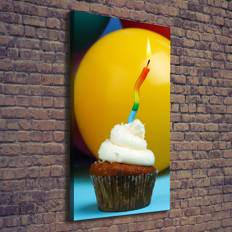 Leinwand-Bild Kunstdruck Hochformat 70x140 Bilder Geburtstag Cupcake