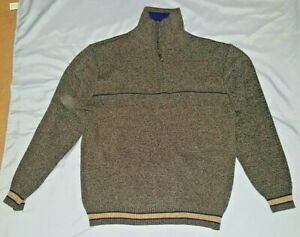 Pre-Owned-Men-s-Pronti-Blue-Wool-Blend-Sweater-3X