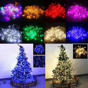 100 600 led lichterkette weihnachten baum beleuchtung deko innen au en deko ebay. Black Bedroom Furniture Sets. Home Design Ideas