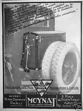 PUBLICITÉ 1927 MOYNAT LE BAGAGE IDÉAL POUR L'AUTOMOBILE - ADVERTISING
