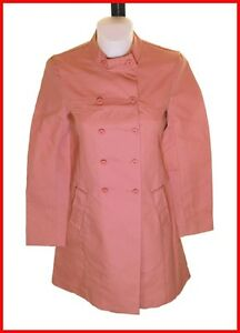 Women's Breast Connection Fcuk Buttoned Bnwt Coat Pink Double French Rrp£120 Uk6 HapxCdC