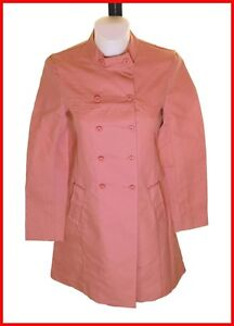 French Button Uk6 120 Fcuk Cappotto £ Bnwt Double Connection Pink Buttoned Rrp UOxHwqI