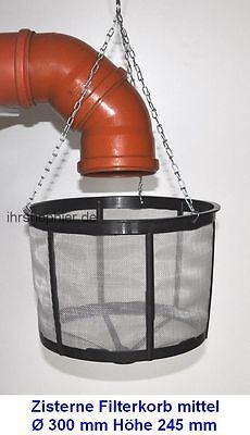 Filter 30 cm Regenfilter für Wassertank Filterkorb Zisterne Sieb Regentonne NEU