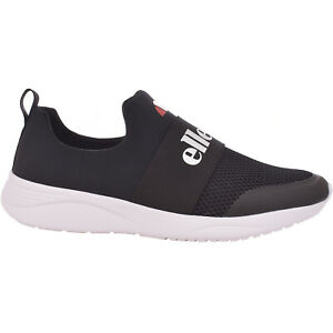 b9f55c841a Details about Ellesse Mens Jamy Casual Slip On Elasticated Trainers  Sneakers Shoes - Black