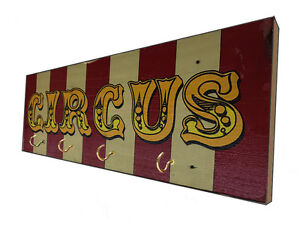 Distressed Circus Wooden Sign