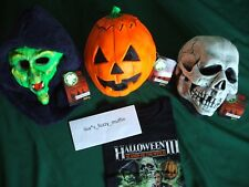 halloween iii 3 season of the witch mask set don post silver shamrock plus shirt