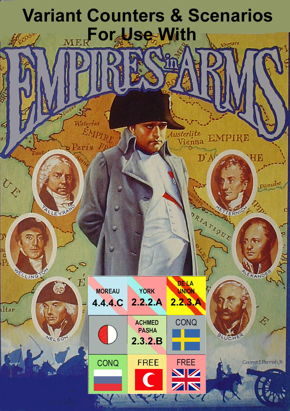 Variant Counters & Rules for Empires in Arms, Avalon Hill, 120+ Pages
