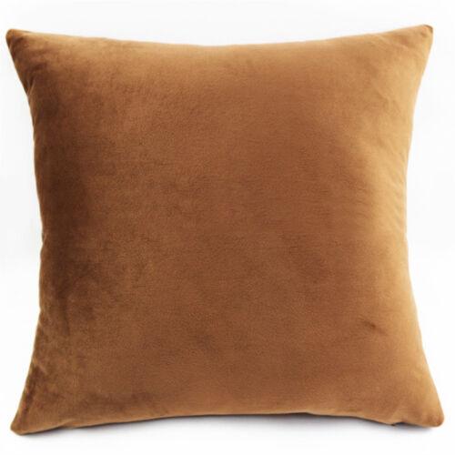 Faux Fur Velvet Cushion Covers Soft Plush Cuddly Throw Pillow Cases Home Decor