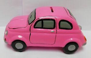 Dettagli Su 78734 Salvadanio In Ceramica Ad Trend Fiat 500 Rosa