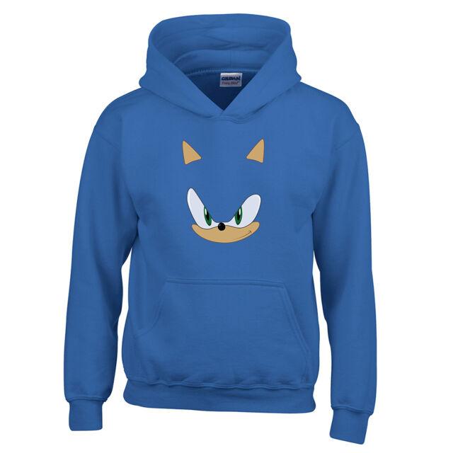Sonic The Hedgehog Childrens Unisex Hoodie Sweatshirt Jacket Game