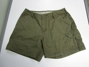 THE-NORTH-FACE-SHORTS-CARGO-KHAKI-GREEN-BUTTON-AND-ZIP-FLY-WOMEN-039-S-SIZE-8-LONG