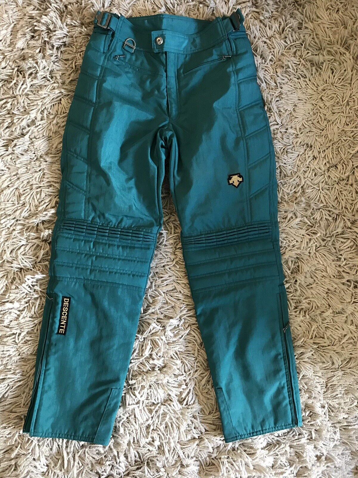 Descente Radipant Ski Pants  Herren Boys Grün Größe US 32S W30 L29 Padded Trousers