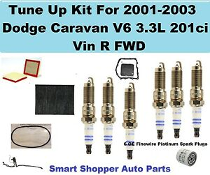 Oil Filter Air Fuel Tune Up Kit for 00-01 Chevrolet Silverado 1500 Spark Plug
