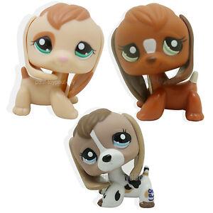 3pcs Littlest Pet Shop Beagle Dog Puppy 1664 2207 1738 Lps Toy