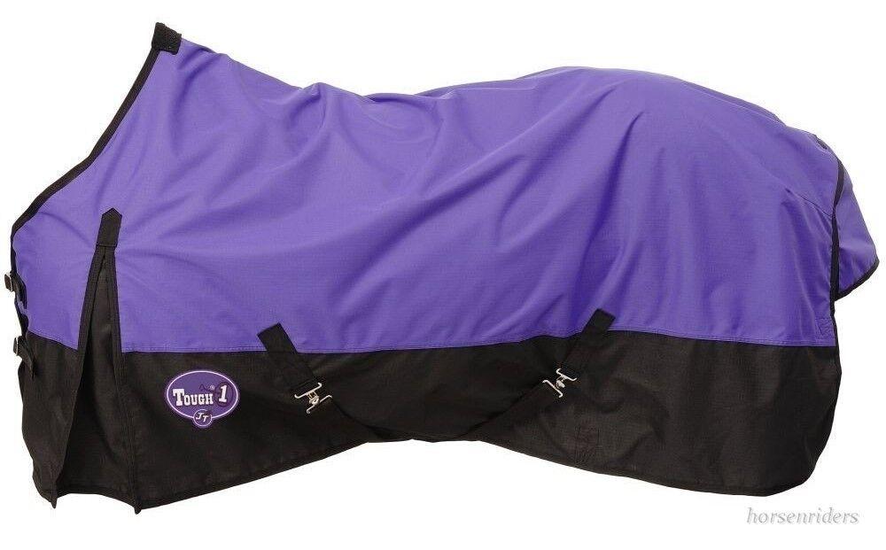 Horse Waterproof Nylon Turnout Sheet - 600D - Tough-1 Purple - Sizes 69  to 84