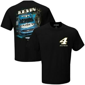 Men-039-s-Checkered-Flag-Black-Kevin-Harvick-Busch-T-Shirt