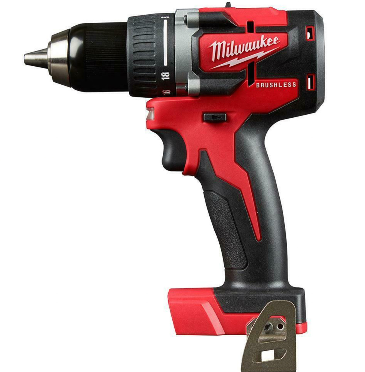 Milwaukee 2801-20 M18 18V 1/2-Inch LED Brushless Drill Driver - Bare Tool. Available Now for 89.90