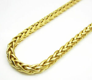 16-30-034-3mm-14k-Yellow-Real-Gold-Franco-Wheat-Italy-Spider-Chain-Necklace-Mens