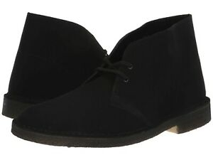 Details zu Men's Shoes Clarks Originals DESERT BOOT Chukkas 38227 BLACK SUEDE