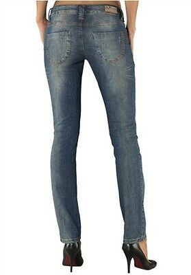 AJC by Arizona Jeans NEU Stretch Lang-Gr.80-84 / L34 Damen Hose Blau Used Denim
