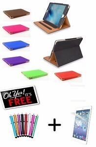 Genuine-TAN-Stand-Smart-Magnetic-Leather-Case-Cover-For-Apple-iPad-Air-amp-Air-2