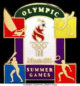 Olympic Pins 1996 Atlanta Summer Games Sport Icons Sports Memorabilia Atlanta 1996