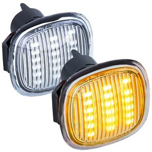 LED-Clignotants-Lateraux-pour-Skoda-Superb-Type-3U4-Annee-2001-2008-Verre
