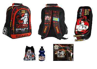 STAR WARS CLONE WARS  SET 6PCS : School Bag Backpack pencil case Gym bag