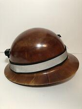 Msa Skullgard Full Brim Hard Hat With Ratchet Suspension Tan With Light Clip