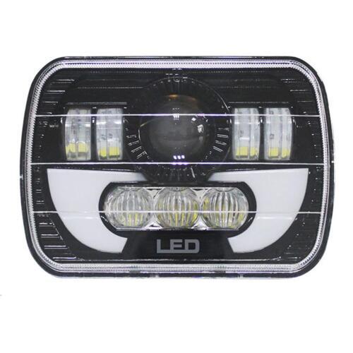 """2pcs 7x6/"""" 120W CREE LED Headlight For 86-95 Jeep Wrangler YJ 84-01 Cherokee XJ"""
