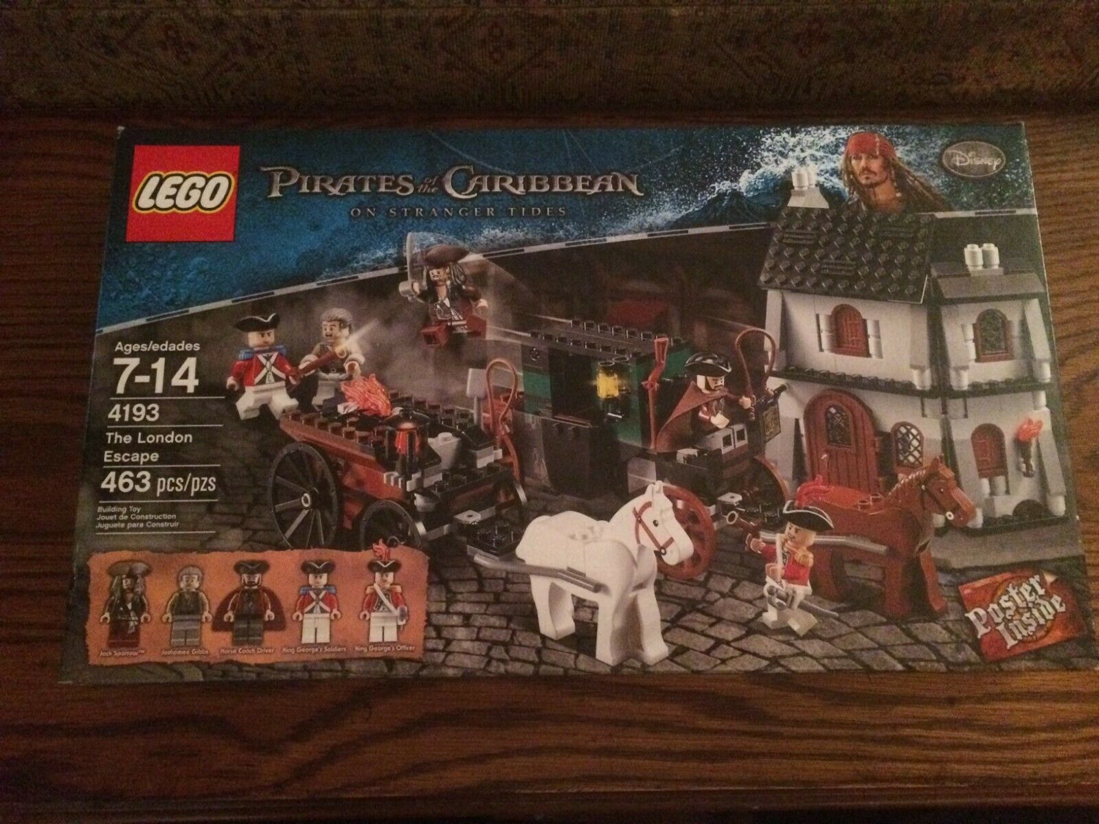 LEGO 4193 The London Escape from the Pirates of the autoibbean Series nuovo in scatola