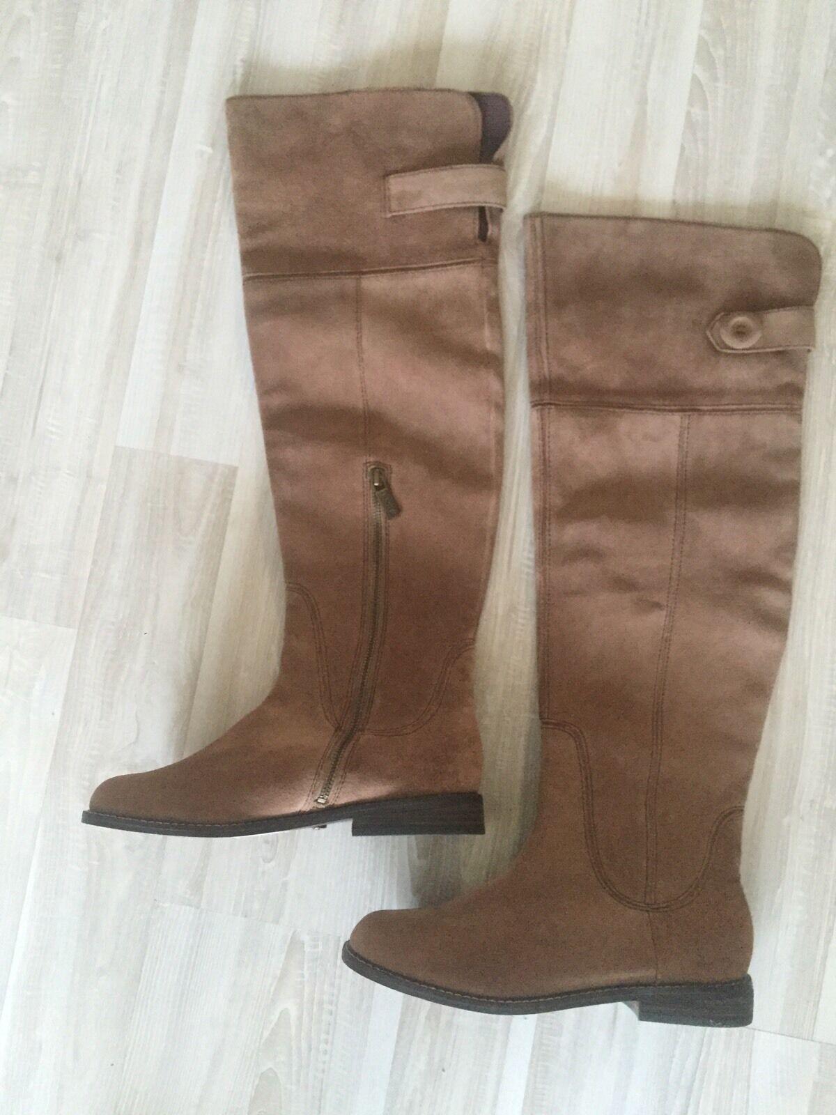 NWT Lucky Brand Over Knee Suede Stiefel Größe 8,5 / 38,5 241