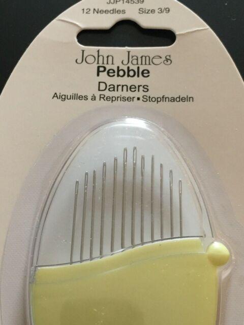 John James PEBBLE DARNERS 12 needles in a case size 3/9