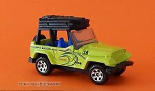 2012 Matchbox Loose 98 Jeep Wrangler Neon Green Surf Rescue Multi Pack Exclusive