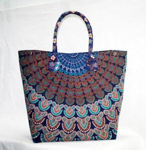 New Tote Bag Purse Mandala Shopping Shoulder Handbags Women Handmade ... cf35febe9ab79