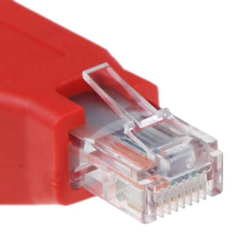 RJ45 Male to Female Connected Crossover Cable  Adapter Convertor CJ