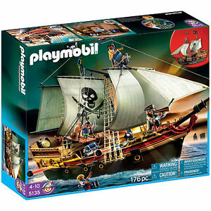 PLAYMOBIL Pirate Ship 5135 Pirates Discontinued by Manufacturer