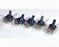 Alpha 250k Ohm Vertical Mount Pot Potentiometers B250k B250k Lot Of 5