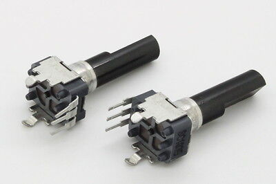 2 x 9mm ALPS B10K 10K Linear Taper Potentiometer 23mm D Shaft RTangle PC Mount