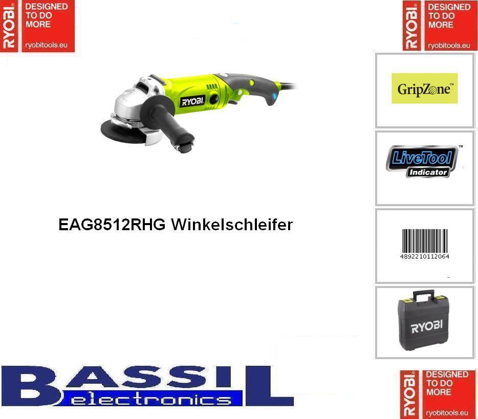 Ryobi EAG 8512 RHG  Winkelschleifer