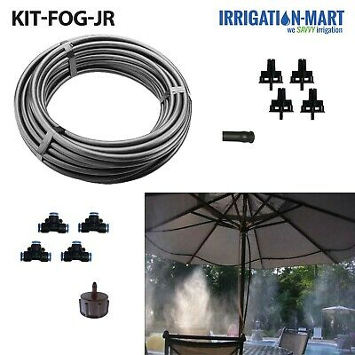 fog misting system,Mist cooling system.UP TO 40PCS MIST NOZZLE 50METER TUBING Gowe High powered outdoor cooling system