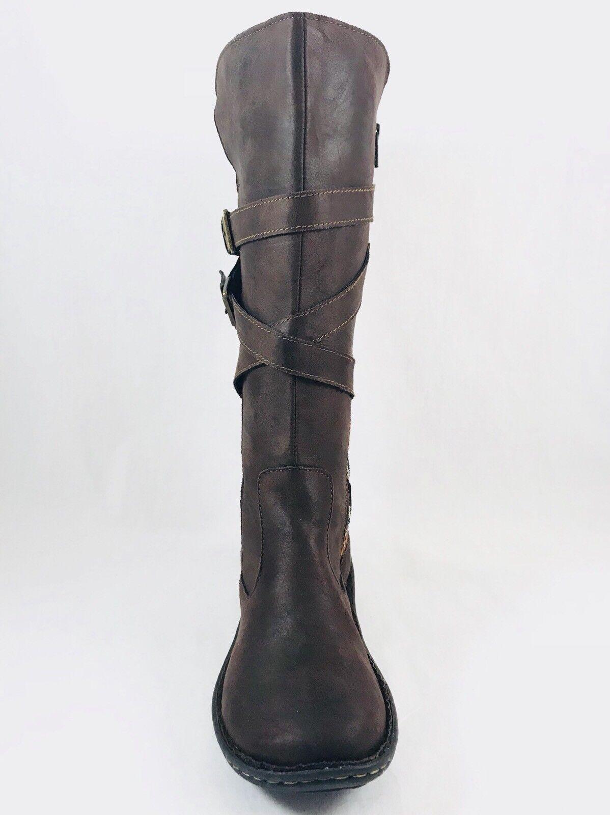 Born Concepts B.O.C. Marghera Mid Stiefel Side Zip Dark Braun Damenschuhe Sz 9