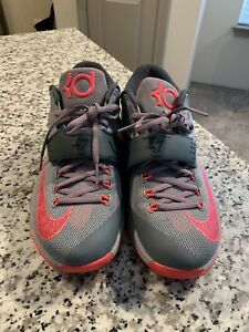 NIKE Men s KD VII 7 CALM BEFORE THE STORM GREY HYPER PUNCH 653996 ... 2055c1b4ce