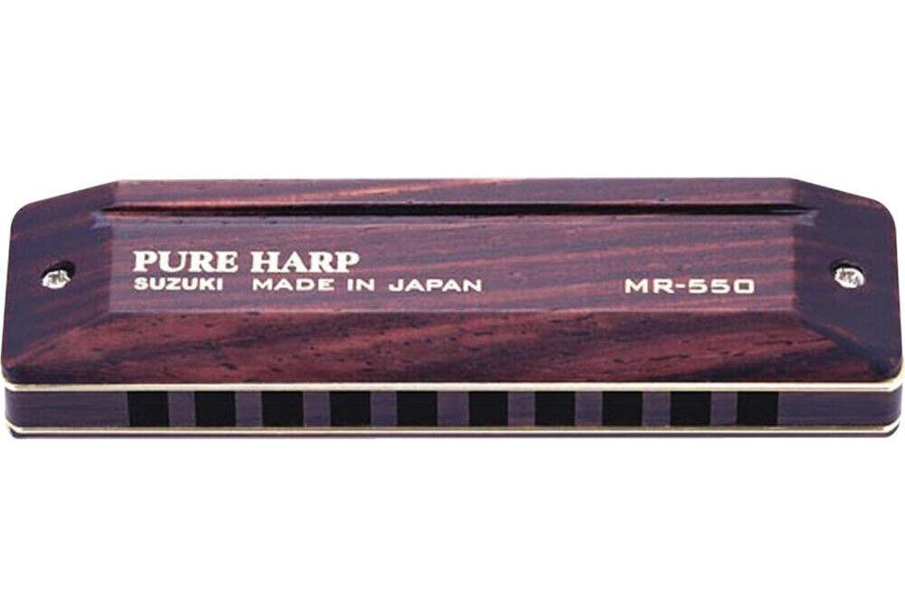 Suzuki SU-MR550 Pure Harp Wooden Key of Eb 10-Hole Diatonic Harmonica MR-550