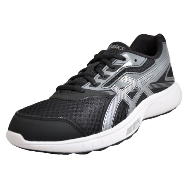 online store 2893f 6c743 Asics Stormer Men's Running Shoes Fitness Gym Workout Trainers Black