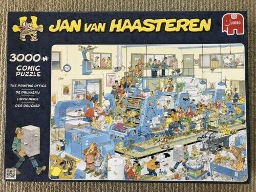 Jan van Haasteren puzzle, Jumbo, The Printing Office - 3000 piece (RARE)