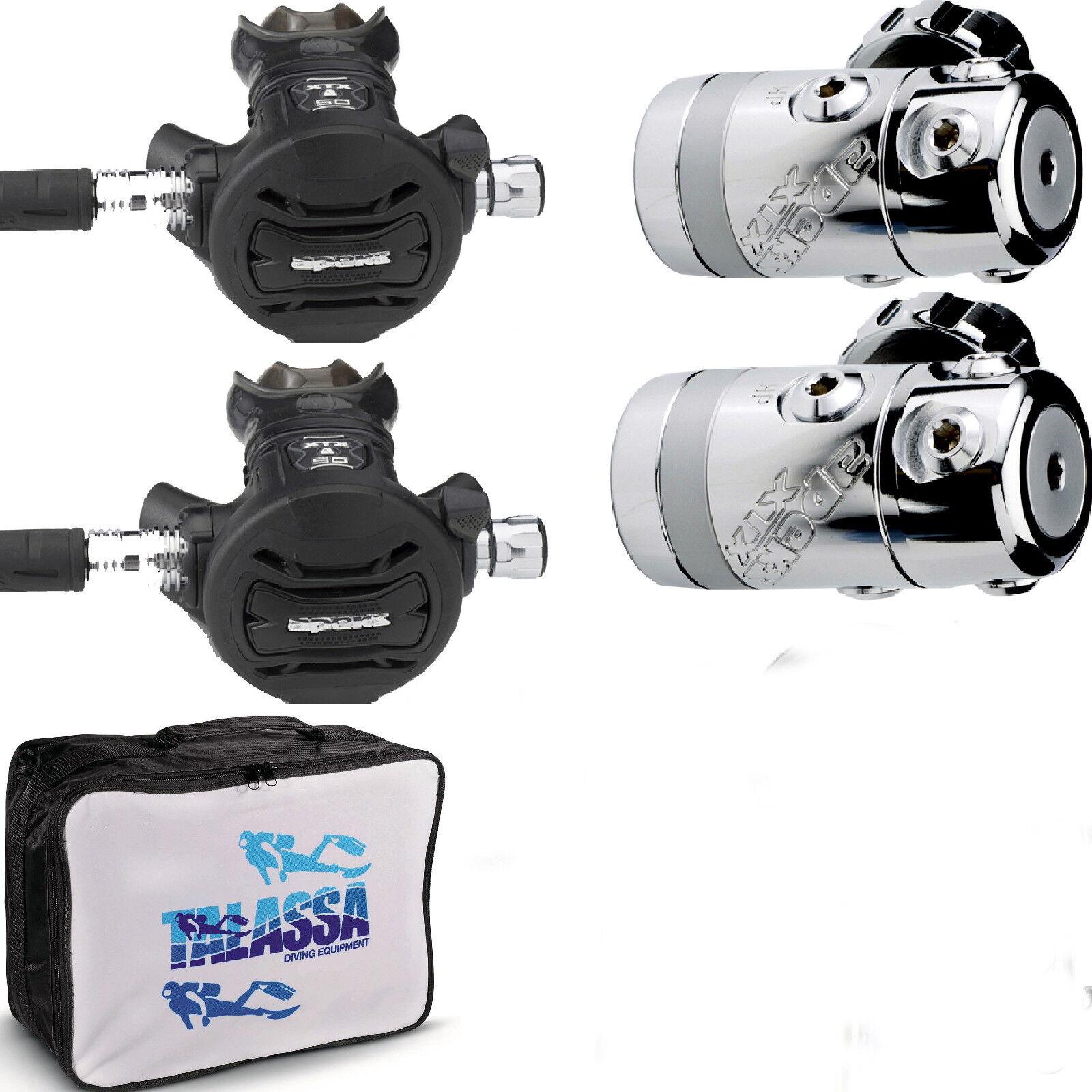 RO1 DIR kit Erogatore Apeks XTX50  e fruste + 5 porta