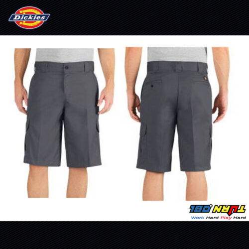 """DICKIES MENS 13/"""" RELAX FIT CARGO SHORT SHORTS WR557 CELL PHONE POCKET ALL COLORS"""