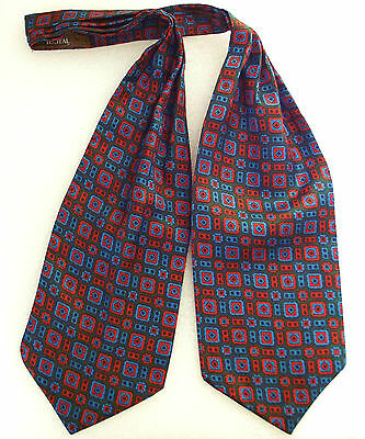 Tootal Grosvenor cravat  Vintage 1950s British Tricel men's mod era washable