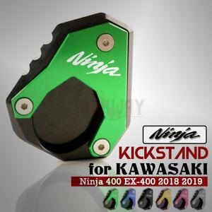 CNC Side Kickstand Stand Extension Plate Pad Fit Kawasaki NINJA400 /& VERSYS 650